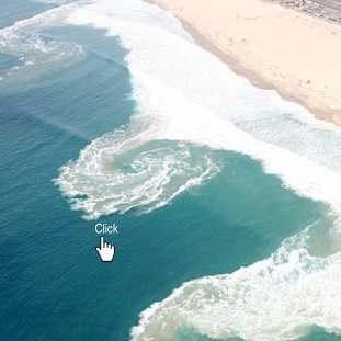 Rip Currents :: Rip currents can be very narrow or more than 50 yards wide.